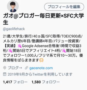 ガオのTwitter